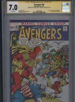 Avengers #95 CGC 7.0 2x SS Neal Adams & Roy Thomas 1972 KREE SKRULL WAR