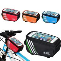 "5"" Bicycle Cycling Bike Frame Front Tube Waterproof Mobile Phone Bag Outdoor Lot"