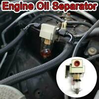 Engine Oil Separator Catch Tank Reservoir Can With Breather Filter Baffled AU