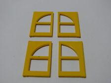Lego 4 fenetres jaunes set 4144 4146 1719 4134 / 4 yellow freestyle windows