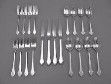 "Oneida / Rogers Stainless Flatware ""SUMMER MIST"" Service for 4  FREE SHIPPING"