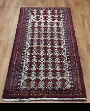 OLD WOOL HAND MADE PERSIAN ORIENTAL FLORAL RUNNER AREA RUG CARPET 146 X 68 CM