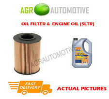 DIESEL OIL FILTER + LL 5W30 ENGINE OIL FOR AUDI A1 1.6 105 BHP 2010-