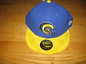 LOS ANGELES RAMS NEW WITH TAGS $34.99 NEW ERA 59FITY NFL BASEBALL HAT SIZE 7 3/8