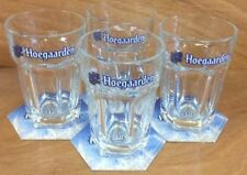 Hoegaarden Beer Glass ~ Set of 4 ~ 25 cl Glasses & 12 Hoegaarden Coasters ~ NEW
