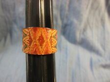 Vintage BOHO Hand Crafted Artisian Leather Ring Size 7.75