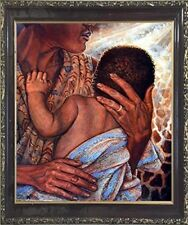 Mother with Child African American Wall Framed Native American Art Picture 20x24