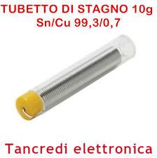 Stagno per saldatura tubetto 1,0mm 10gr 99,3/0,7 Sn/Cu flussante 2,2% SA700-1