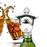 New Tool Bar Club Kitchen Glass Cap Bottle Opener Wall Mount Wine Beer Soda