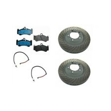 Porsche 911 Turbo Kit of 2 Front Left + Right Brake Discs Sebro & Brake Pads TRW