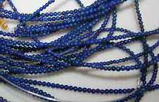 "LAPIS LAZULI BEADS 2mm Round 15.75""   Tiny Beads!71415"