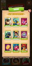 Coin Master Full set of TRIBE. 5 white cards. Aztec Princess