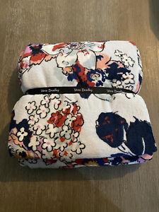 Vera Bradley Exuberant Floral 80 x 50 Throw Blanket. NWT.