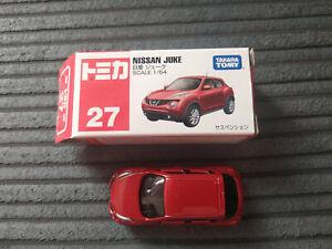 TAKARA TOMY NISSAN JUKE 2010 1:64 BOXED BURGUNDY TOY MODEL DIE CAST #27 IN BOX