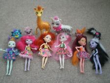 SIX ENCHANTIMALS DOLLS WITH THEIR PETS