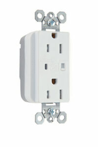 LEGRAND PLUGTAIL® TAMPER-RESISTANT SURGE PROTECTIVE DUPLEX RECEPTACLE, WHITE 15a