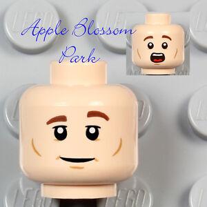 NEW Lego Male Boy Light FLESH MINIFIG HEAD - Peter Venkman w/Smile Dimple 21108