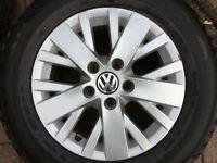 """VW T5 T6 TRANSPORTER 16"""" COLMAR RONAL ALLOY WHEEL & TYRE 7E0601025F 6.5Jx16 #1"""