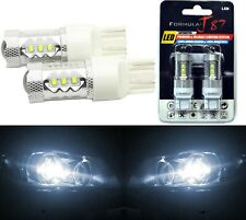 LED Light 80W 7444 White 5000K Two Bulbs Front Turn Signal Replace Upgrade Lamp