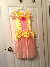 DISNEY BELLE Beauty & the Beast Fantasy Play Costume Yellow, Toddler Girl, 4-6X