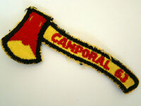 1963 Camporal Ax Tommyhawk Boy Scouts Patch - 63 Camporal