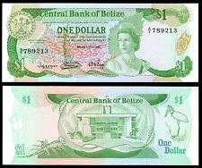 BELIZE 1 DOLLAR (P43) 1983 QEII AU/UNC