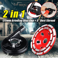 "Universal 5"" Angle Grinder Grinding Dust Shroud 125mm Diamond Grinding cup wheel"