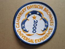 Camberley Brownies Universal Expedition 2000 Girl Guides Cloth Patch Badge (L4K)