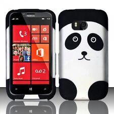 For Nokia Lumia 822 Rubberized HARD Case Snap On Phone Cover Panda Bear
