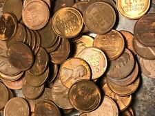 Roll of (50 coins) RED BROWN Uncirculated Wheat Cent Pennies Mixed 40'S AND 50'S