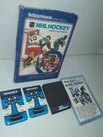 Intellivision NHL Hockey Game Complete in Box w/ Manual & Overlays