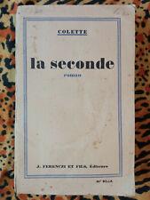 La Seconde, Colette, 1929, First Edition