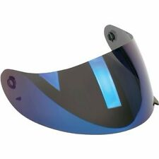 NEW AGV K3 / K4 HELMET  VISOR SCRATCH RESISTANT IRIDIUM BLUE FREE SHIP