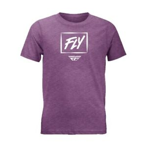 Fly Racing Zoom Youth T-Shirt (Large, Heather Purple)