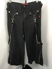 Tripp NYC Womens 13 EMO Chain Spike Convertible Pants RAVER Wide Leg Goth Punk