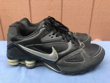 NIKE SHOX HERITAGE BLACK RUNNING SNEAKERS MEN'S SIZE US 10 386202-001 A2