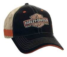 Harley-Davidson Men's Embroidered Long Bar & Shield Mesh Trucker Cap BCC31212