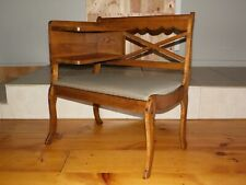 Vintage Gossip Bench Telephone Table Entry Bench Chair