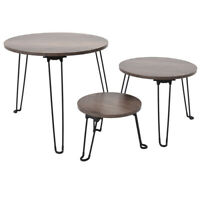 3PCS Stackable Nesting Coffee Table Home Set Furniture Living Room Modern Decor