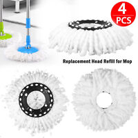4 PCS Replacement Microfiber Mop Head Refill For Magic Hurricane Spin Mop Home