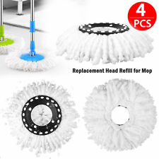 4X PCS Replacement Microfiber Mop Head Refill For Magic Hurricane Spin Mop