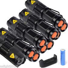 10x 7W 3000LM LED Adjustable Focus Zoom Mini Flashlight Battery Torch Lamp