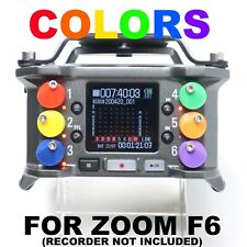 Custom Colored Replacement Fader Knobs for Zoom F6 (Field Recorder Not Included)
