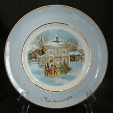 Avon Christmas Plate 1977 Series Fifth Edition Carolers In The Snow Wedgwood