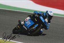 Romano Fenati mano firmato FOTO 12X8 VR46 TEAM KTM MOTO3 2015 17.