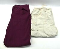 Lot Of 2 Gloria Vanderbilt Womens Sz 14 Pants Casual Pull On Capris Denim Jeans