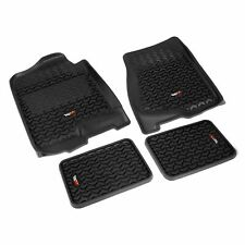 Floor Mats Liner Set Black Front & Rear Chevy GMC Rugged Ridge 82987.01