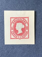 1875 HELIGOLAND Postal Stationery Square Cut ,1 1/2p, 10pf