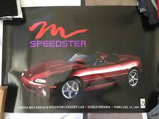 Mazda Miata Speedster Concept Car Premiere Poster Rare Collectible MX5 MX-5