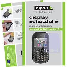 2x Nokia Asha 201 Schutzfolie matt Displayschutzfolie Antireflex Passgenau